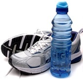 Running Shoes and a Water Bottle